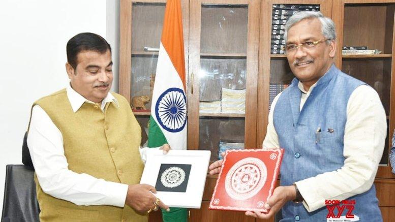U'khand CM meets Gadkari, thanks him for help in road connectivity