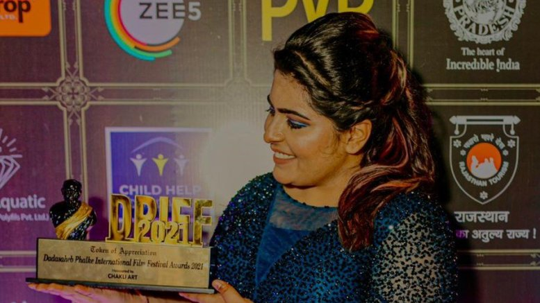 Ms. Mehek Purohit, Founder of India's Best Social Media Agency - Chakli Art Gets Felicitated at DPIFF 2021!