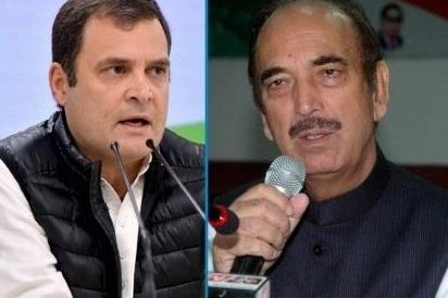 Sign of truce in Cong: Rahul, Ghulam Nabi Azad seen together