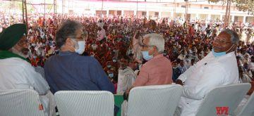 Patna: Panchayat organized at Patna Gate public Library in protest of Farm bills  (Photo: IANS)