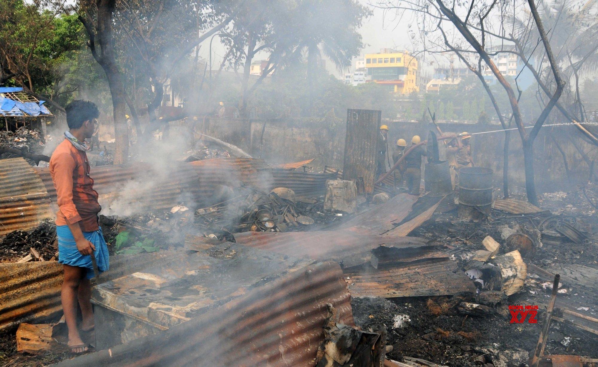 Kolkata: Firefighters fighting against fire in a slum area #Gallery