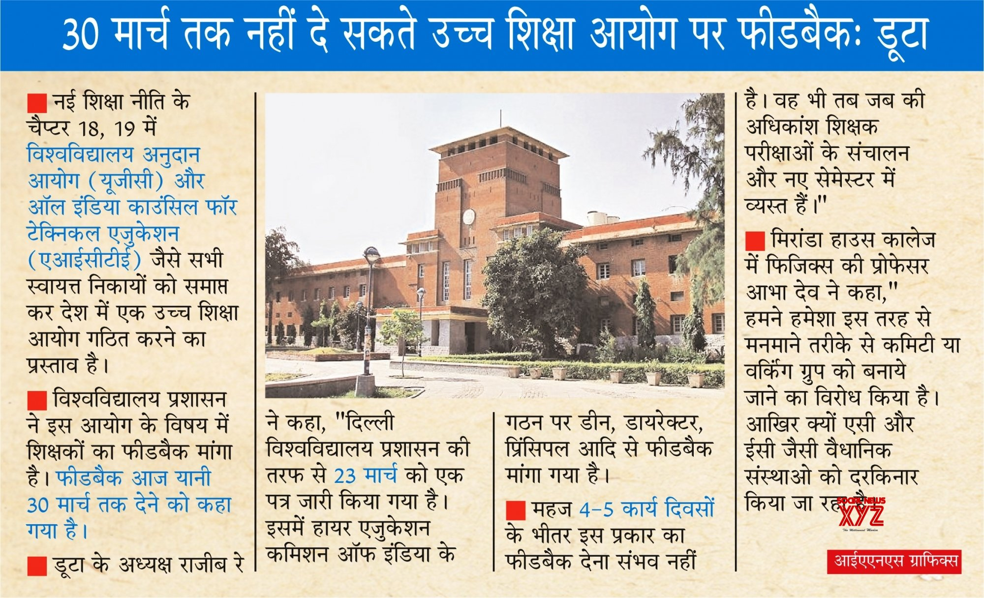 Infographics: DU asks for feedback on Higher Education Commission, Duta says don't hurry. #Gallery
