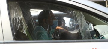 Cairo, Sept. 14, 2020 (Xinhua) -- A man wearing a mask is seen in a vehicle in Cairo, Egypt, on Sept. 14, 2020. Egypt recorded on Monday 168 new COVID-19 cases, bringing the total infections in the country to 101,177, said the Health Ministry. (Xinhua/Ahmed Gomaa/IANS)