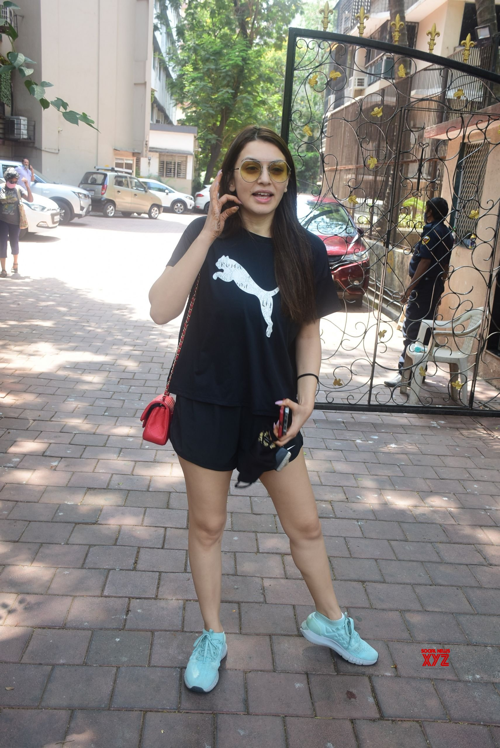 Actress Hansika Motwani Spotted At Bandra - Gallery