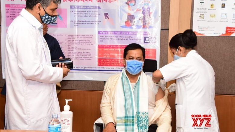 Assam CM gets Covid-19 jab, urge others to get vaccinated