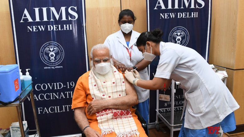 Modi takes 2nd jab, says vax can defeat Covid