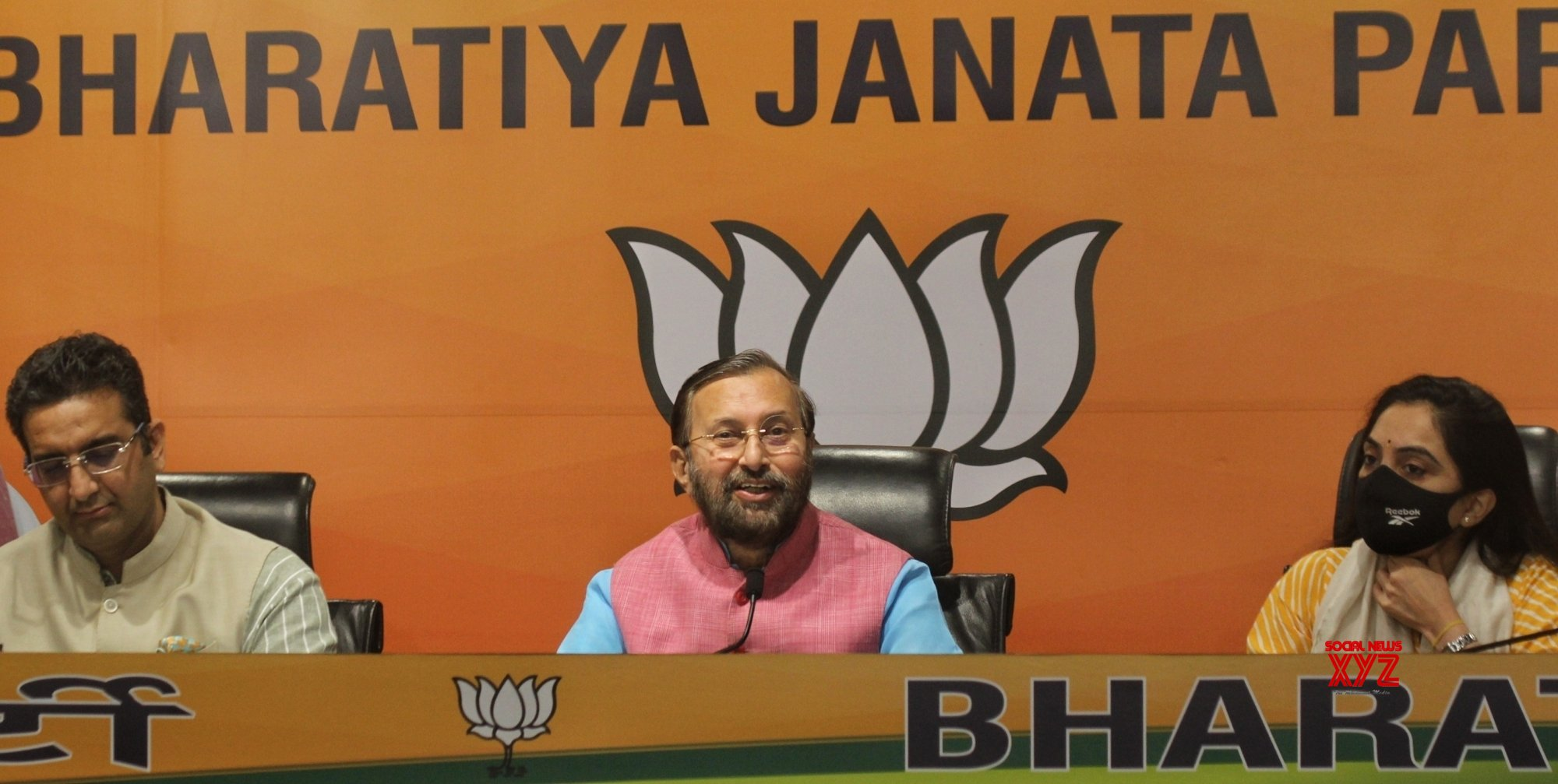 New Delhi: Union Minister Prakash Javadekar address a press conference at BJP HQ, DDU Marg, in New Delhi #Gallery