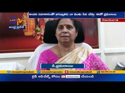 Bhramaramba Takes Charge As EO For Durga Temple