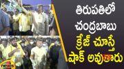 Chandrababu Naidu Huge Fans Craze In Tirupati By-Election Campaign (Video)
