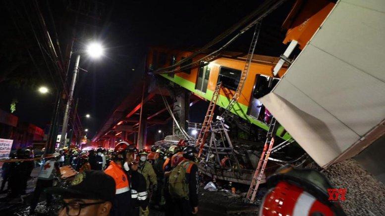 15 killed in Mexico City subway bridge collapse