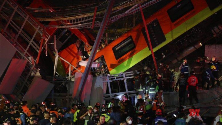 20 dead in Mexico City underground rail bridge collapse