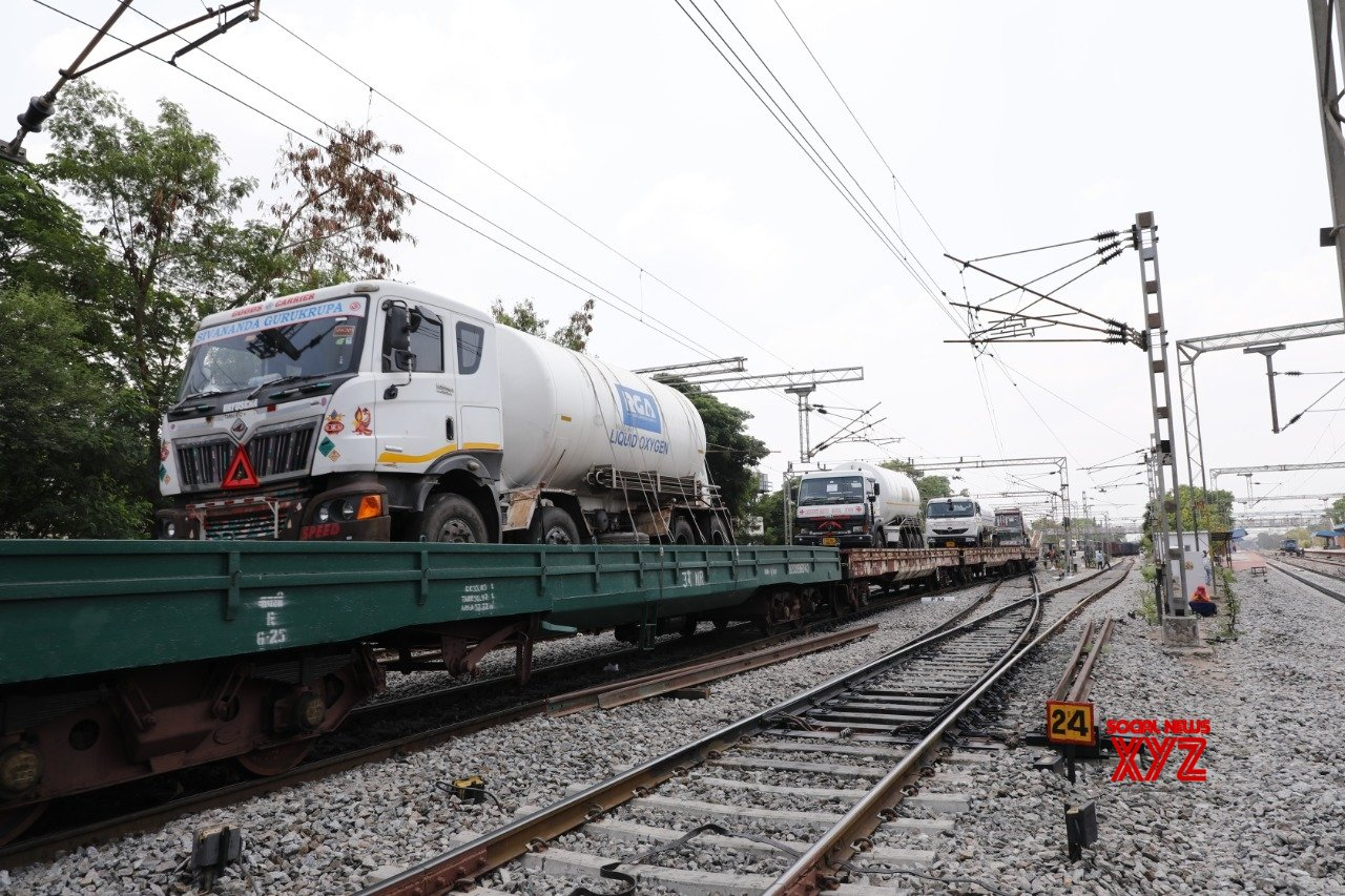 Second Oxygen Express returns to Hyderabad from Odisha