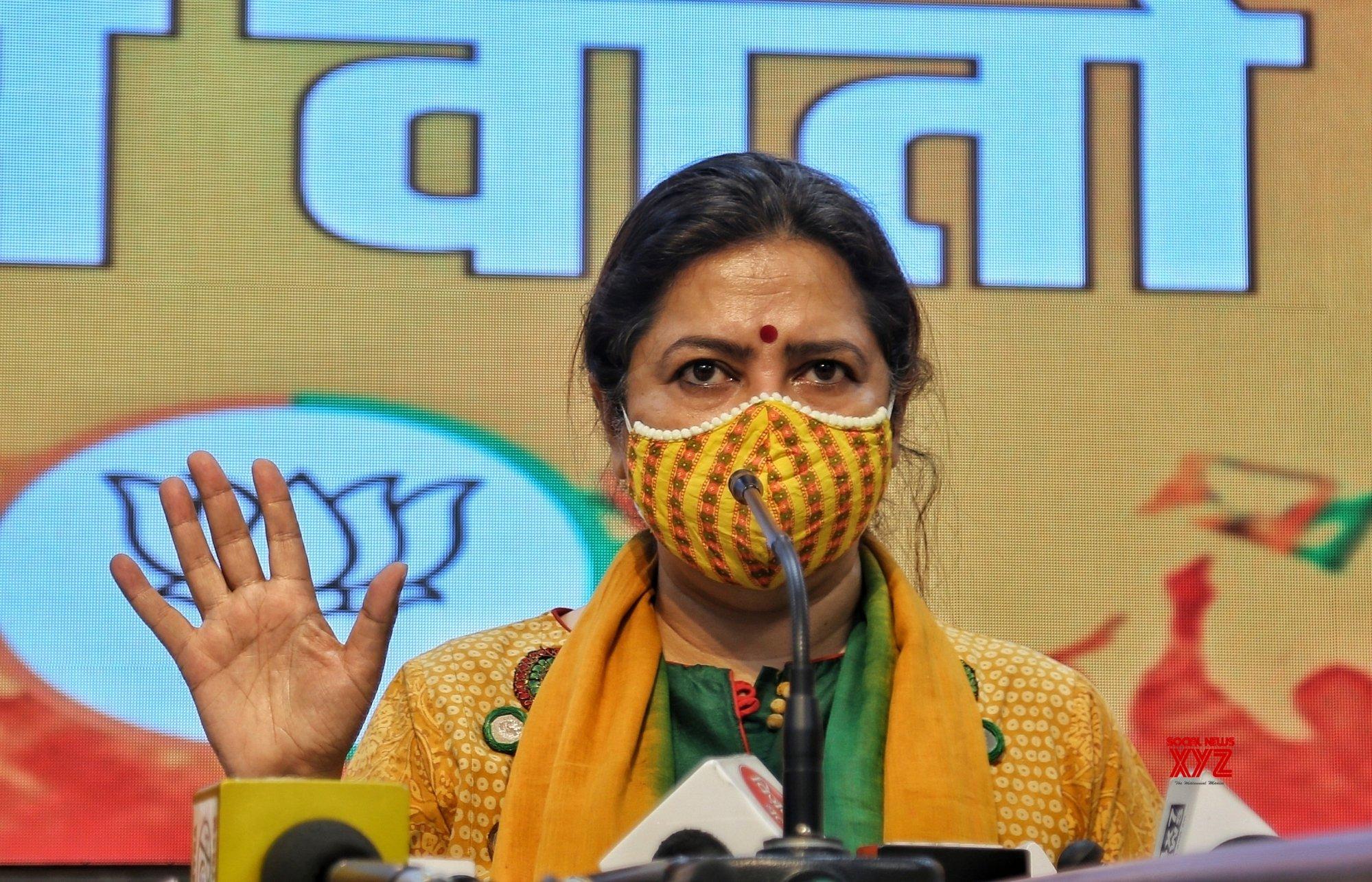 New Delhi : BJP leader and MP Meenakshi Lekhi - address a press conference in New Delhi. #Gallery