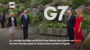 Bidens and Johnsons bump elbows outside G-7 venue (Video)