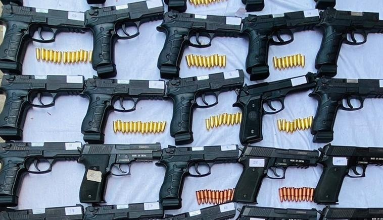 Punjab Police seize cache of foreign-made pistols from smuggler