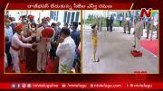 NTV: CJI NV Ramana Gets Grand Welcome At Raj Bhavan (Video)
