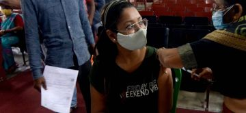 Kolkata: People took Covid - 19 vaccine from health workers in Kolkata on Friday, June 25, 2021. (Photo: Kuntal Chakrabarty/ IANS)