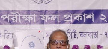 Kolkata: President of West Bengal Board of Secondary Education (WBBSE), Kalyanmoy Ganguly at a press conference declared the West Bengal 10th (Madhyomik) Result at Derozio Bhawan in Kolkata on Tuesday, July 20, 2021. (Photo: Kuntal Chakrabarty/ IANS)