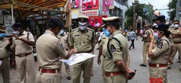 Hyderabad : Hyderabad Police Commissioner Anjani Kumar oversees the arrangements for the procession in the old city of Laldarwaza Bonalu in Hyderabad on Tuesday, July 20, 2021.(Photo: IANS)