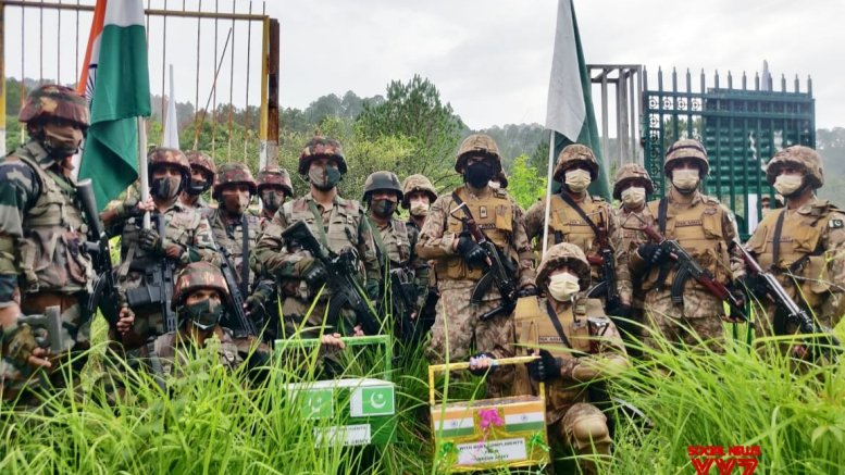 India, Pakistan armies share sweets at Line of Control on Eid