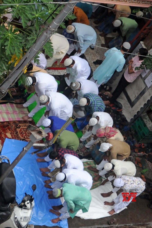 Kolkata: Muslim devotees offer Eid prayers at the Eid - al - Adha festival at Nakhoda Masjid in Kolkata #Gallery