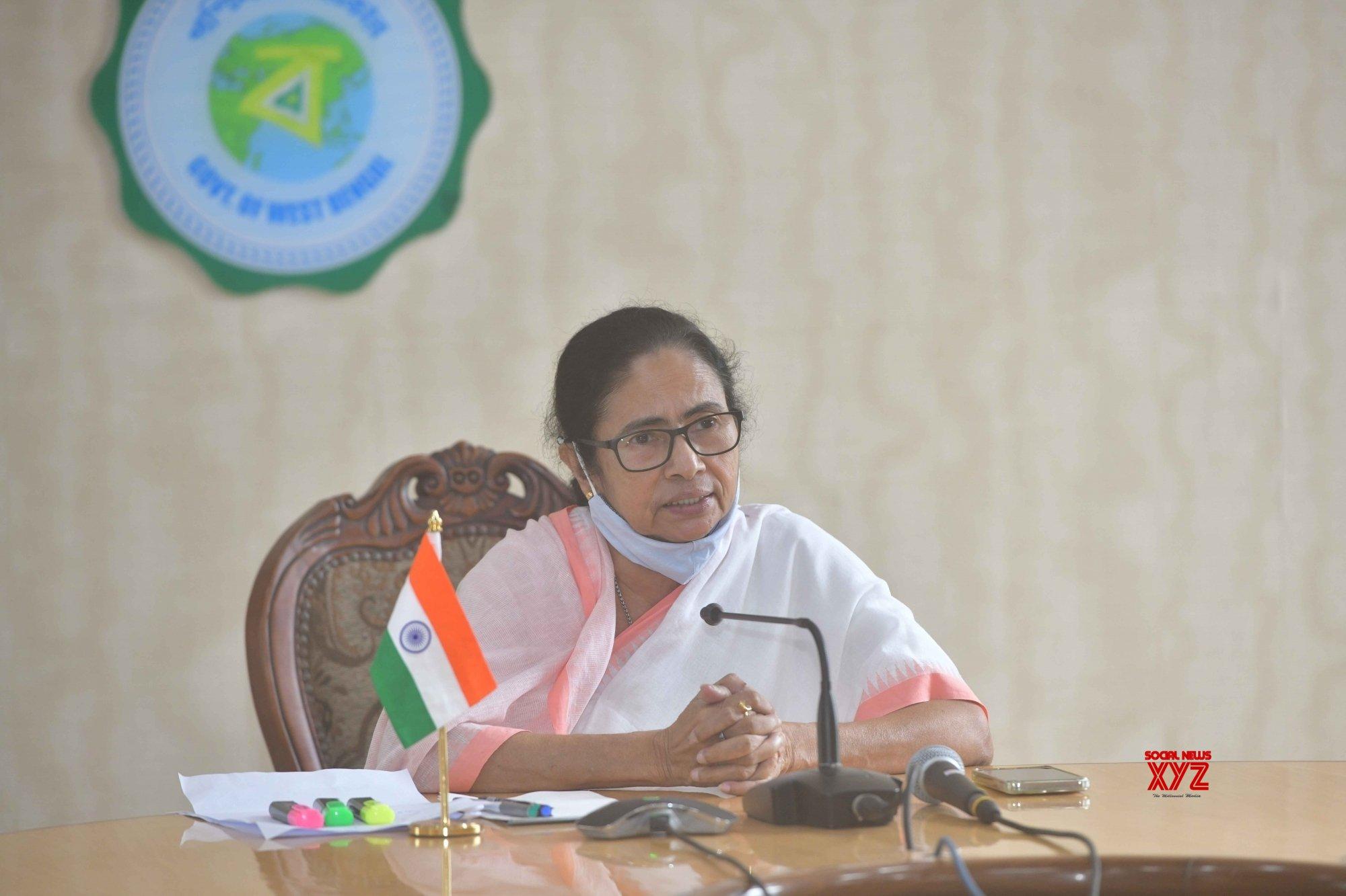 Kolkata: West Bengal Chief Minister Mamata Banerjee at a press conference at Nabanna Howrah in Kolkata. Source : WB KC #Gallery