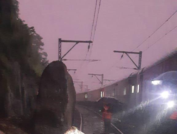Boulders, slush halt Central Railway in Nashik-Pune sections