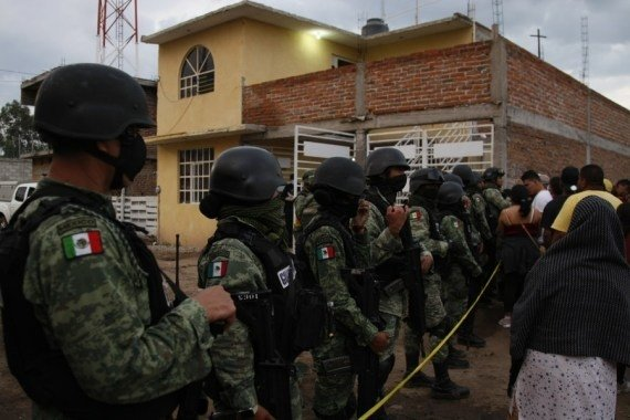 Members of the National Guard stand guard outside the rehabilitation center attacked by armed assailants in Irapuato, Guanajuato, Mexico, July 1, 2020 #Gallery