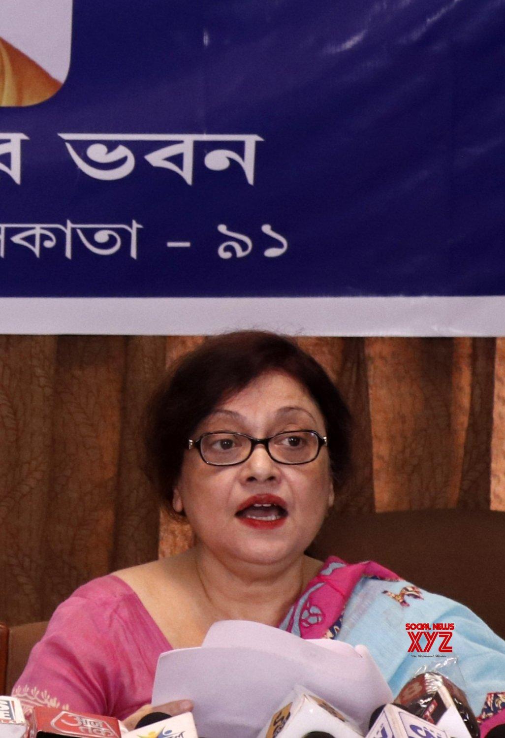 Kolkata: President, WB Council of HS Education, Mahua Das at a press conference for Higher Secondary results at Vidyasagar Bhavan, Salt Lake City in Kolkata. #Gallery