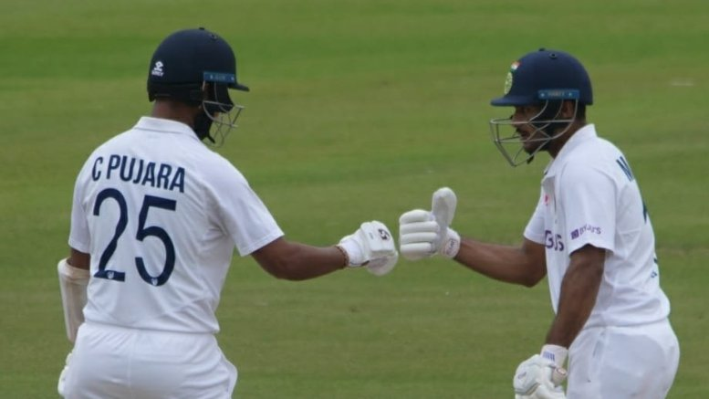 Warm-up: Agarwal, Pujara dimissed before lunch, Indians extend lead