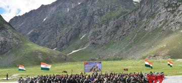 Kargil War Memorial bike rally reaches Drass (Photo: IANS)