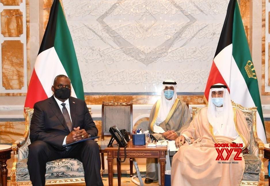 Kuwaiti Emir Sheikh Nawaf Al - Ahmad Al - Jaber Al - Sabah (R) meets with U.S. Secretary of Defense Lloyd Austin (L) in Kuwait City, Kuwait, on Sept. 8, 2021 #Gallery
