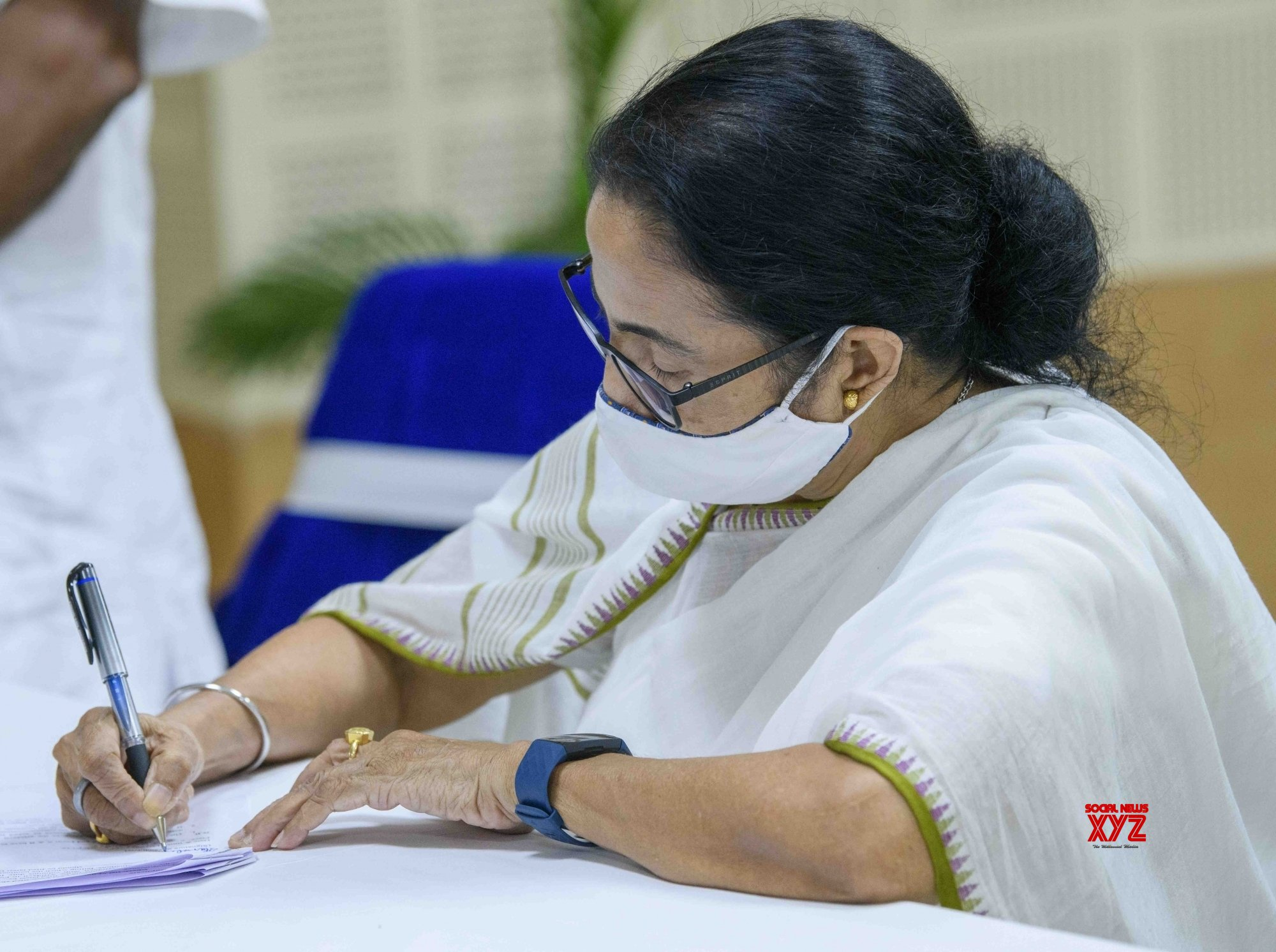 Kolkata: West Bengal Chief Minister Mamata Banerjee filing nomination for Bhabhanipur Assembly constituency by - poll in Kolkata. #Gallery