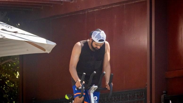 IPL 2021: MI skipper Sharma begins training in quarantine