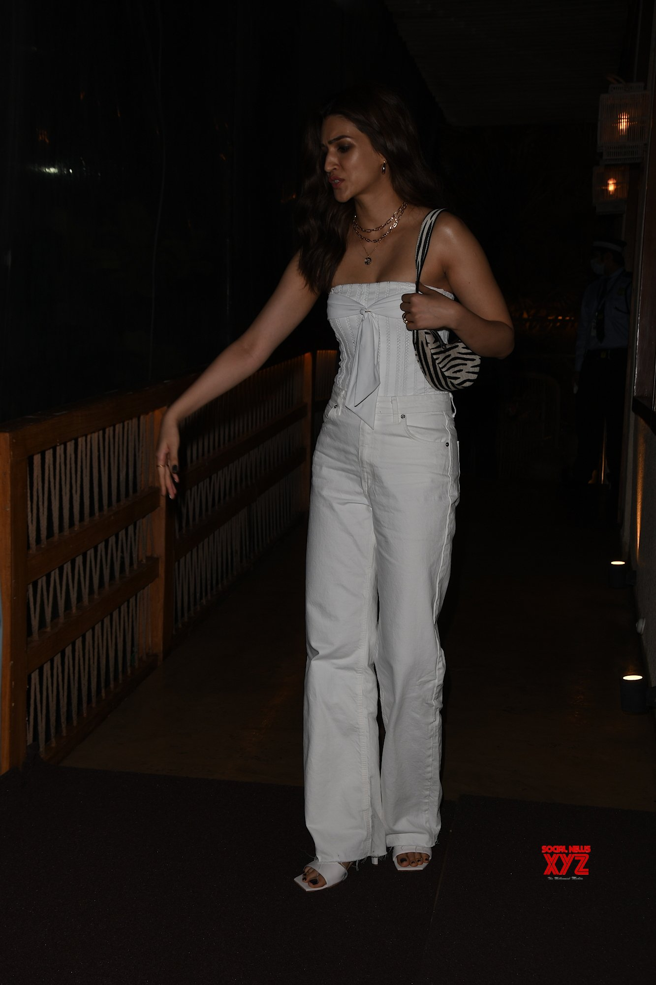 Actress Kriti Sanon Spotted At Bastian Worli - Gallery