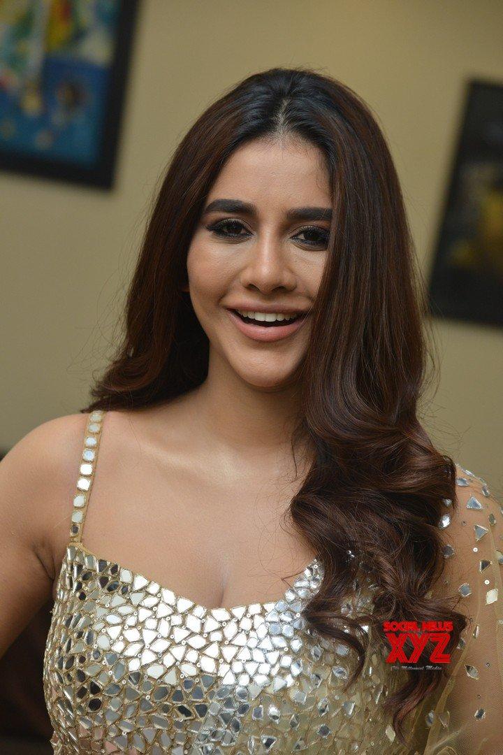 Actress Nabha Natesh Glam Stills From Maestro Movie Pre Release Event