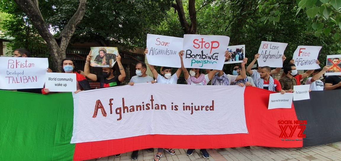 New Delhi: Afghan citizens protest against Pakistan in New Delhi #Gallery