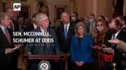 Sen. McConnell, Schumer at odds over debt ceiling (Video)