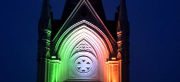Kolkata: Tri colour lighting at Calcutta High Court during celebration of 75th Independence Day in Kolkata on Aug 14, 2021.(Photo: Kuntal Chakrabarty/IANS)