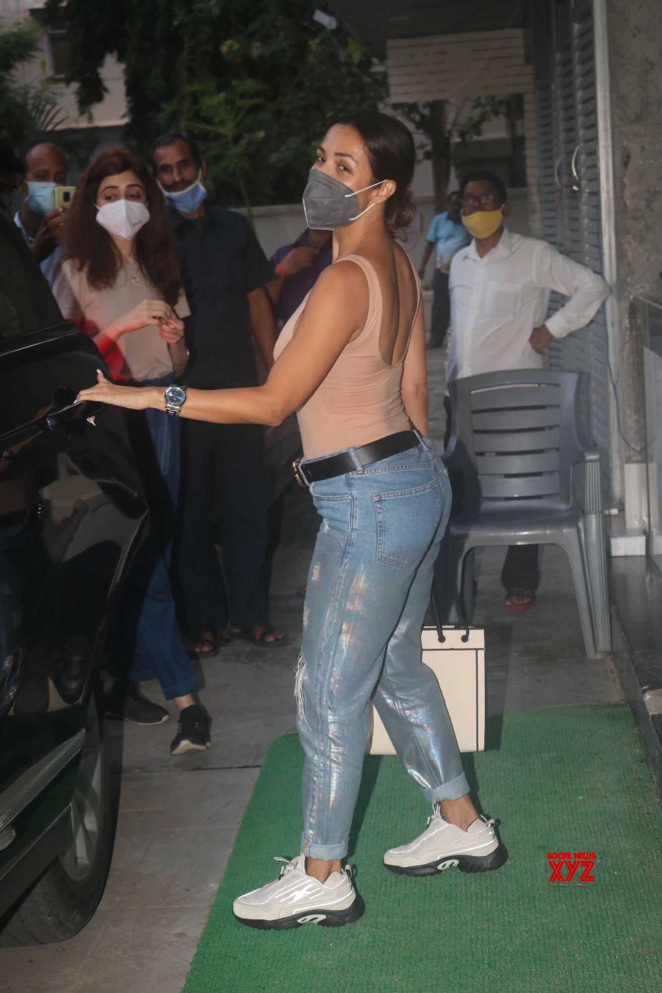 Actress Malaika Arora Spotted Post Meeting At Bandra - Gallery