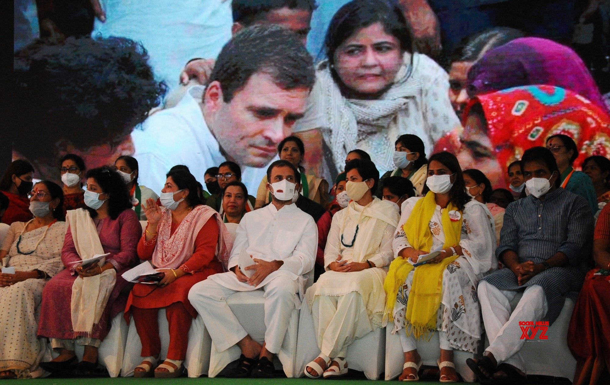 New Delhi: Senior Congress leader Rahul Gandhi during All India Mahila Congress, 38th Foundation Day at AICC HQ in New Delhi on Wednesday, September 15, 2021. #Gallery
