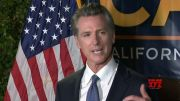 California Governor Gavin Newsom addresses his supporters after surviving recall effort (Video)