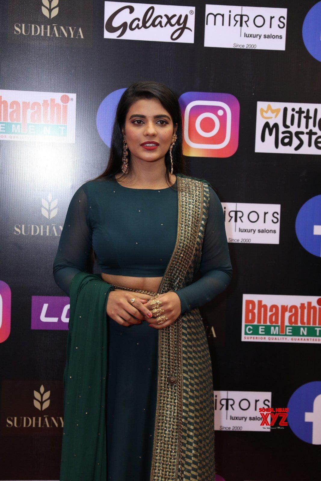 Actress Aishwarya Rajesh Glam Stills From SIIMA Awards 2021 Day 2 Red Carpet