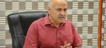 New Delhi : Delhi Deputy Chief Minister Manish Sisodia addresses a press conference on recent coal crisis in New Delhi on Sunday October 10 2021.(Photo: Anupam Gautam/IANS)