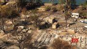 Calif. fire destroys dozens of mobile homes & RVs (Video)