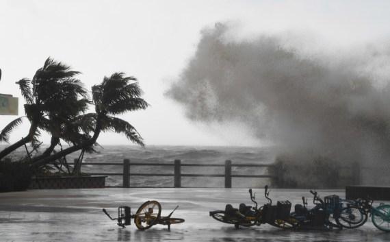 Typhoon Kompasu makes landfall in China's island province