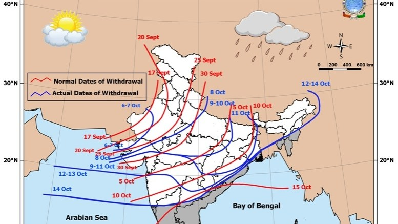 Monsoon withdrawal not yet complete, says IMD