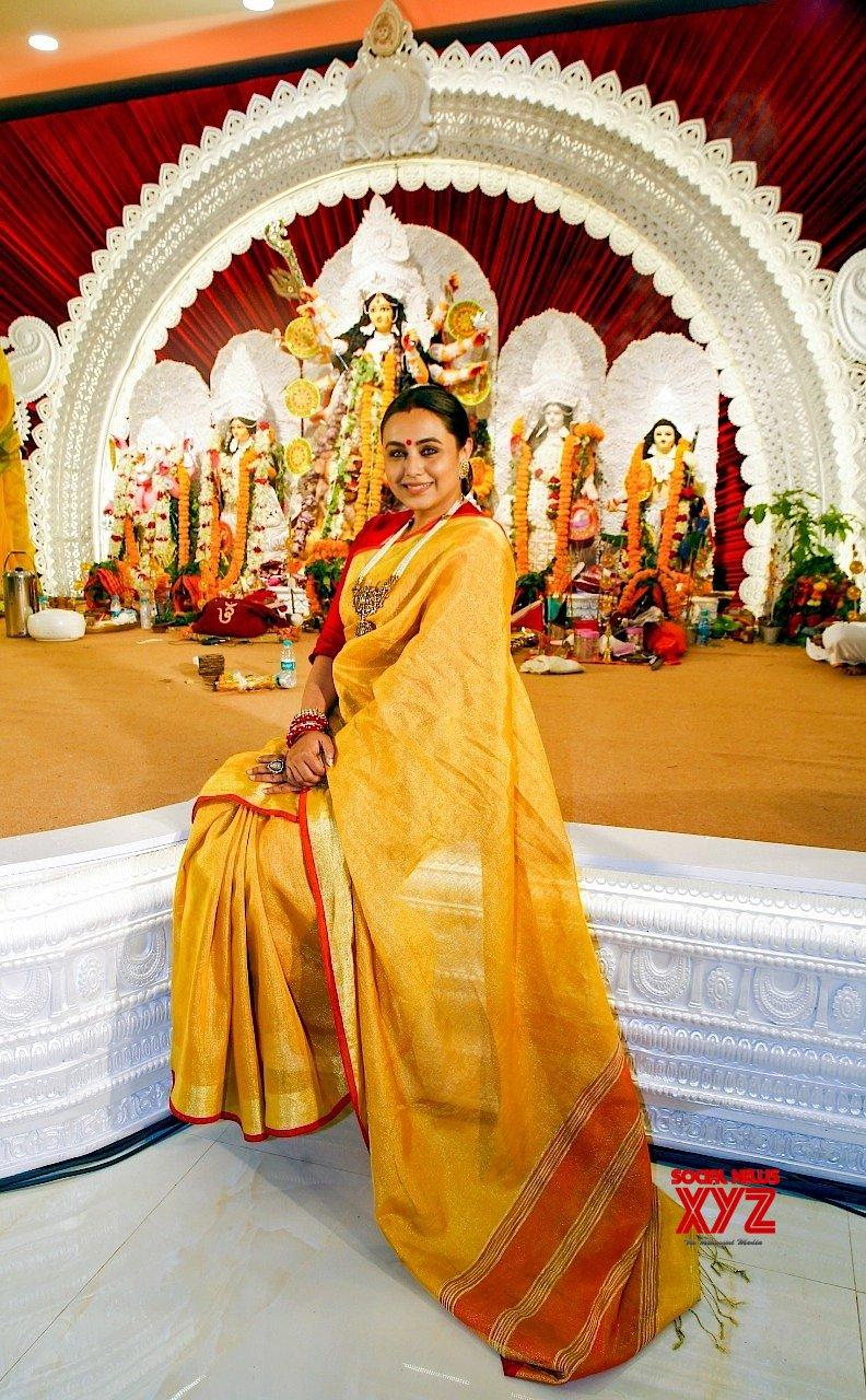 Actress Rani Mukerji At North Bombay Durga Pooja - Gallery