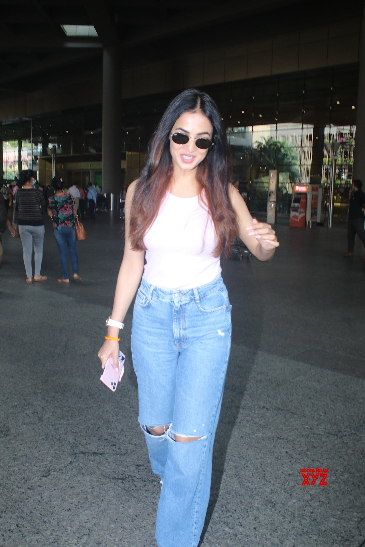 Actress Sonal Chauhan Spotted At Airport Arrival - Gallery