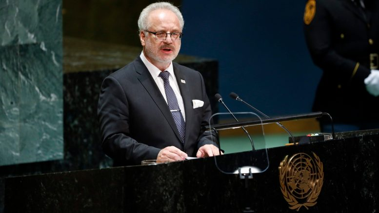 Latvian president tests positive for Covid-19